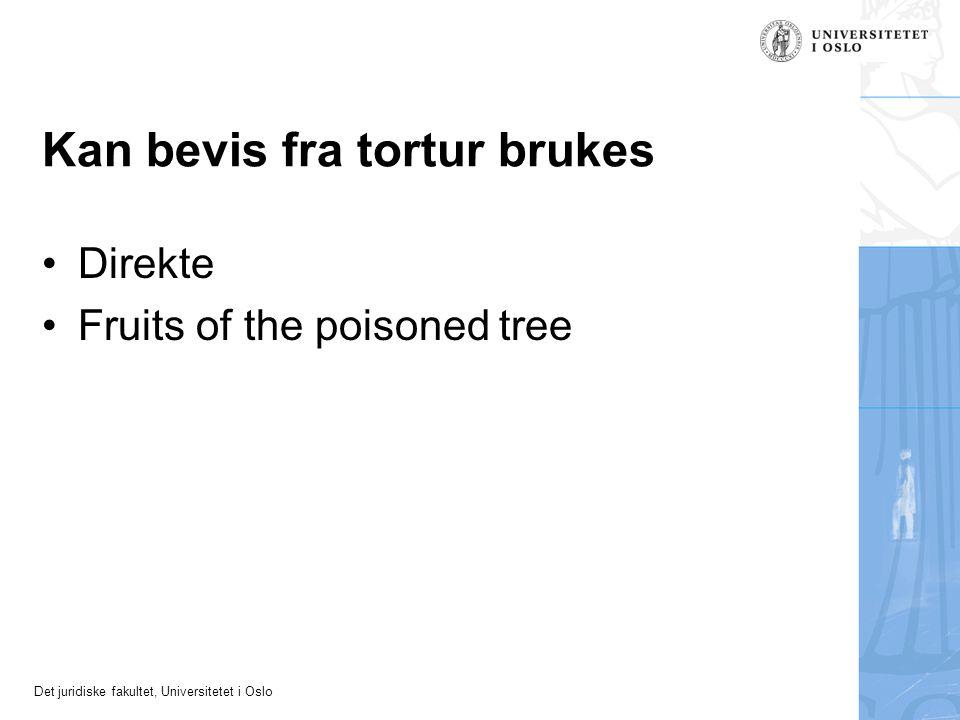 Kan bevis fra tortur brukes
