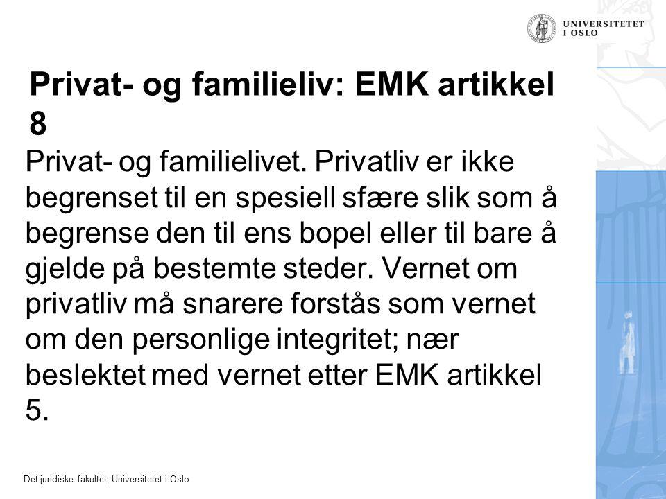 Privat- og familieliv: EMK artikkel 8