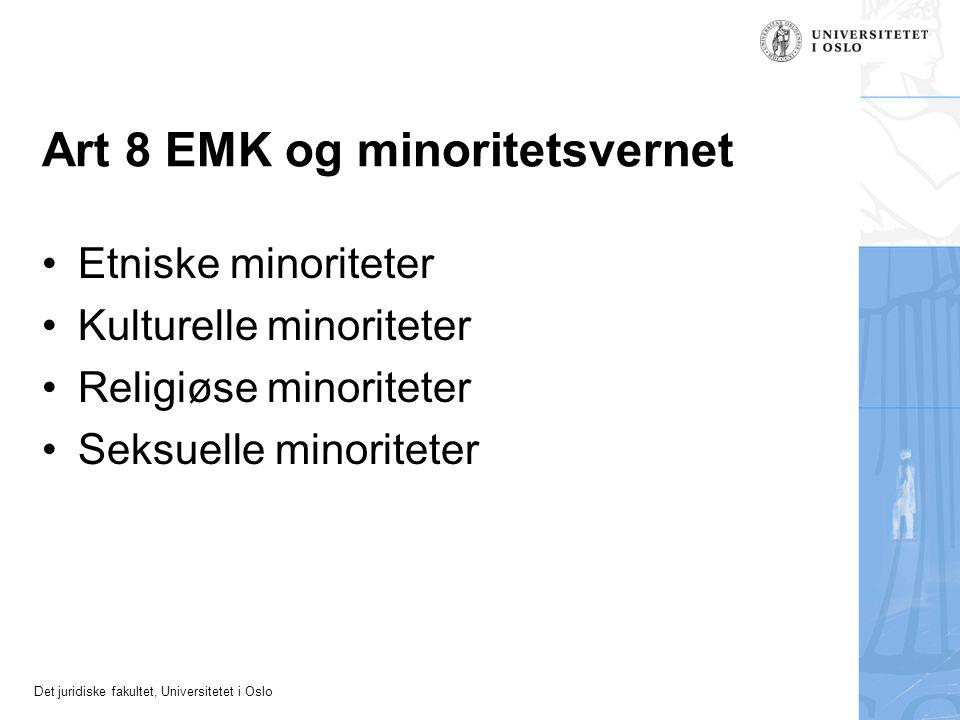 Art 8 EMK og minoritetsvernet