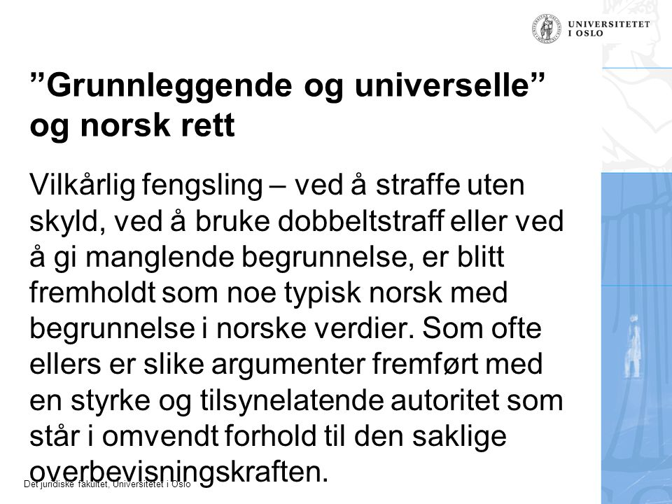 Grunnleggende og universelle og norsk rett