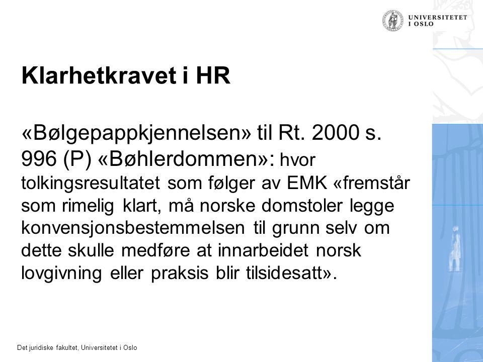 Klarhetkravet i HR