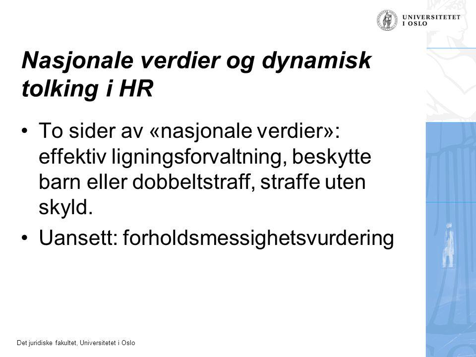 Nasjonale verdier og dynamisk tolking i HR