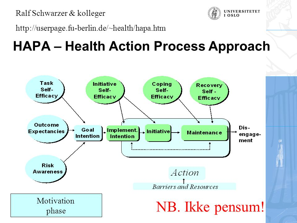 HAPA – Health Action Process Approach