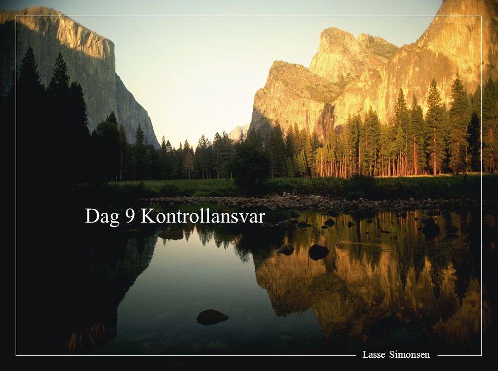 Dag 9 Kontrollansvar Lasse Simonsen