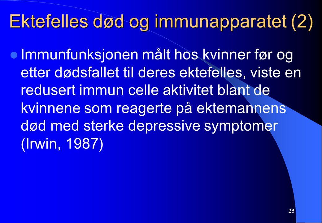 Ektefelles død og immunapparatet (2)