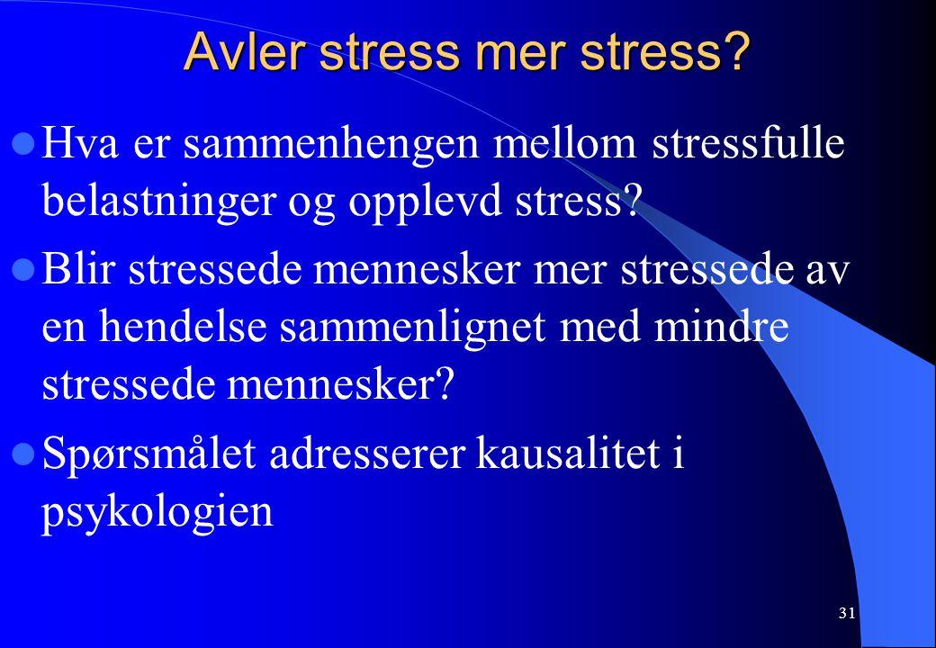 Avler stress mer stress