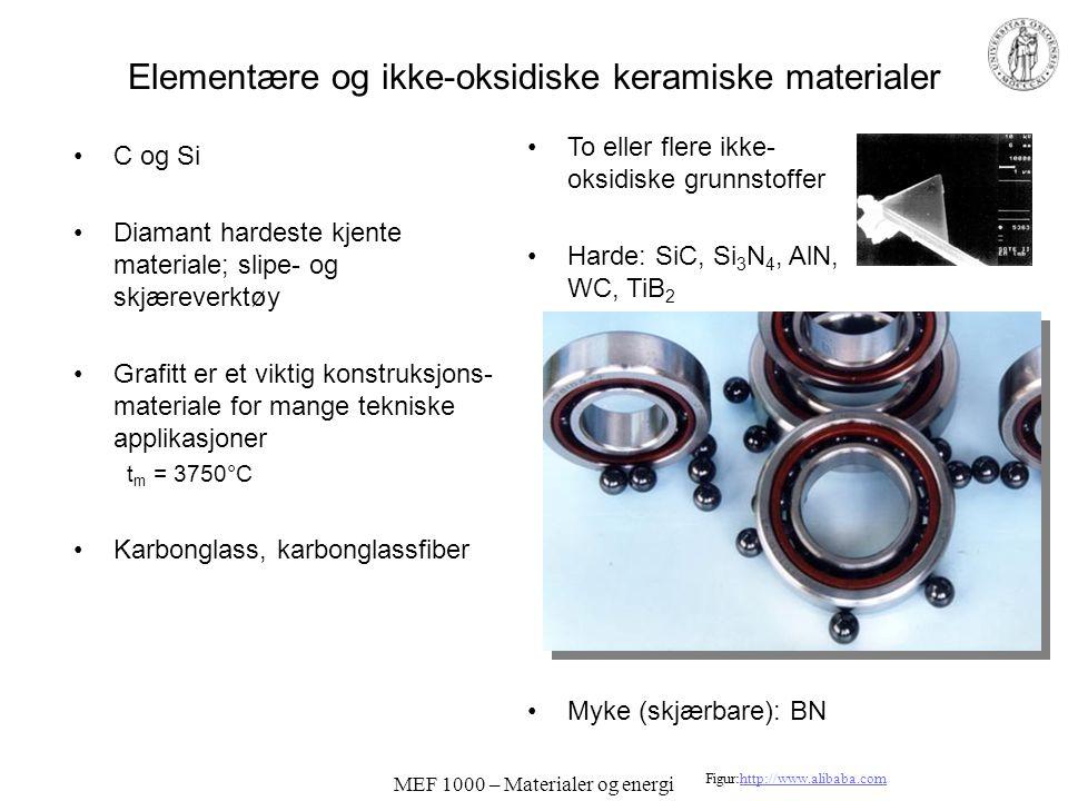 Elementære og ikke-oksidiske keramiske materialer