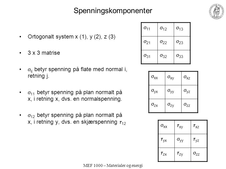 Spenningskomponenter