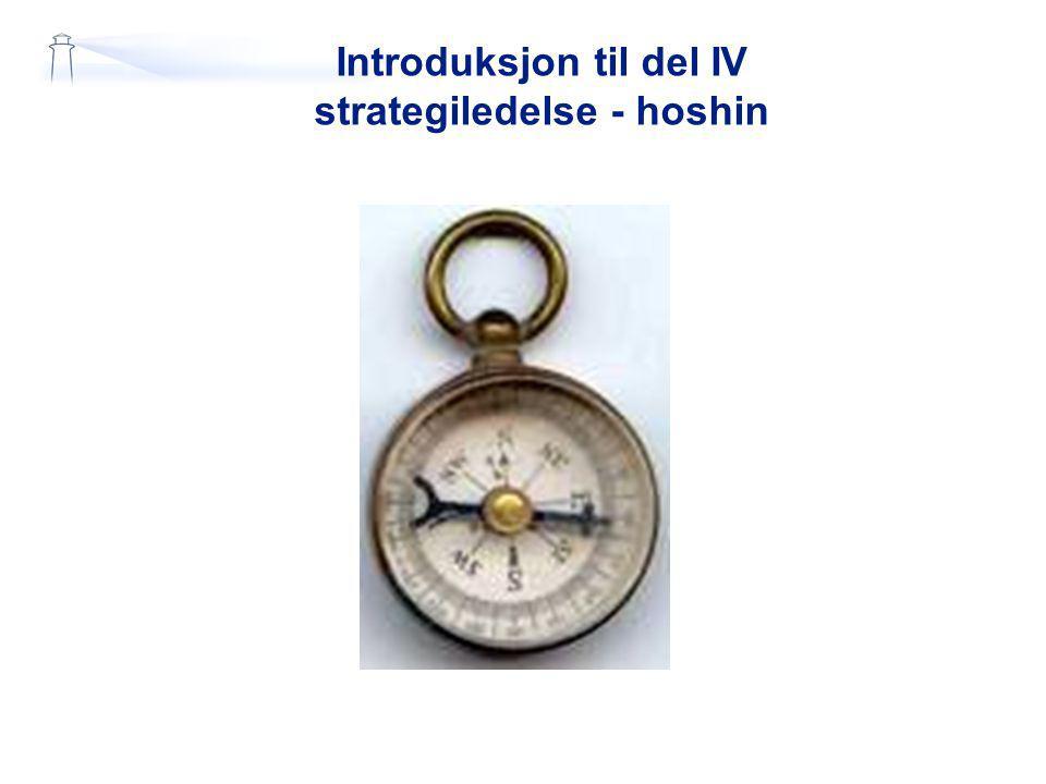 Introduksjon til del IV strategiledelse - hoshin