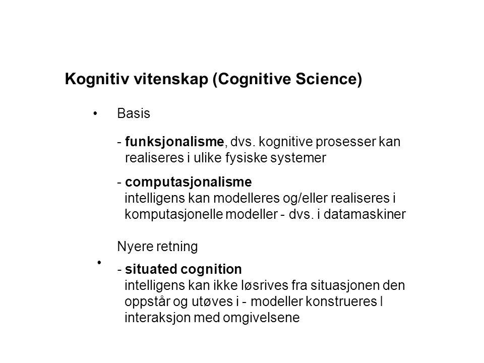 Kognitiv vitenskap (Cognitive Science)
