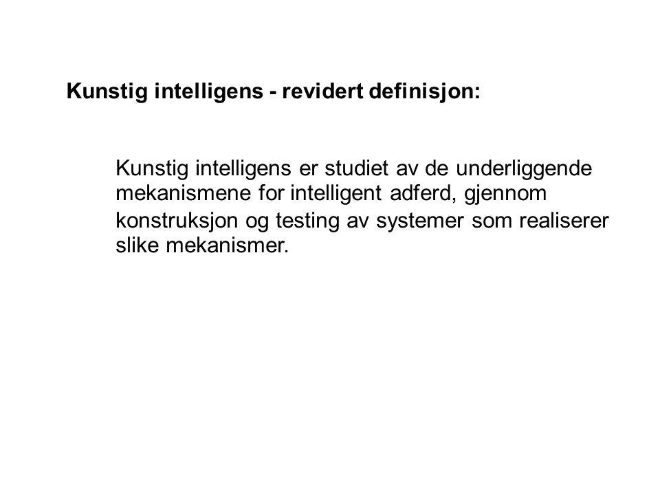 Kunstig intelligens - revidert definisjon: