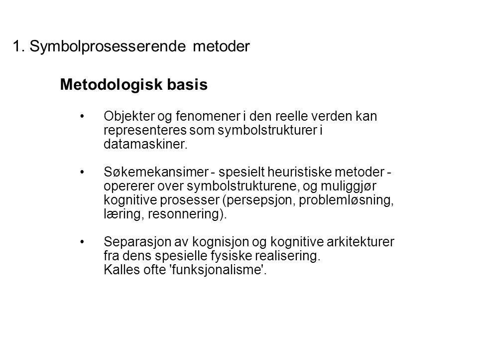 1. Symbolprosesserende metoder Metodologisk basis