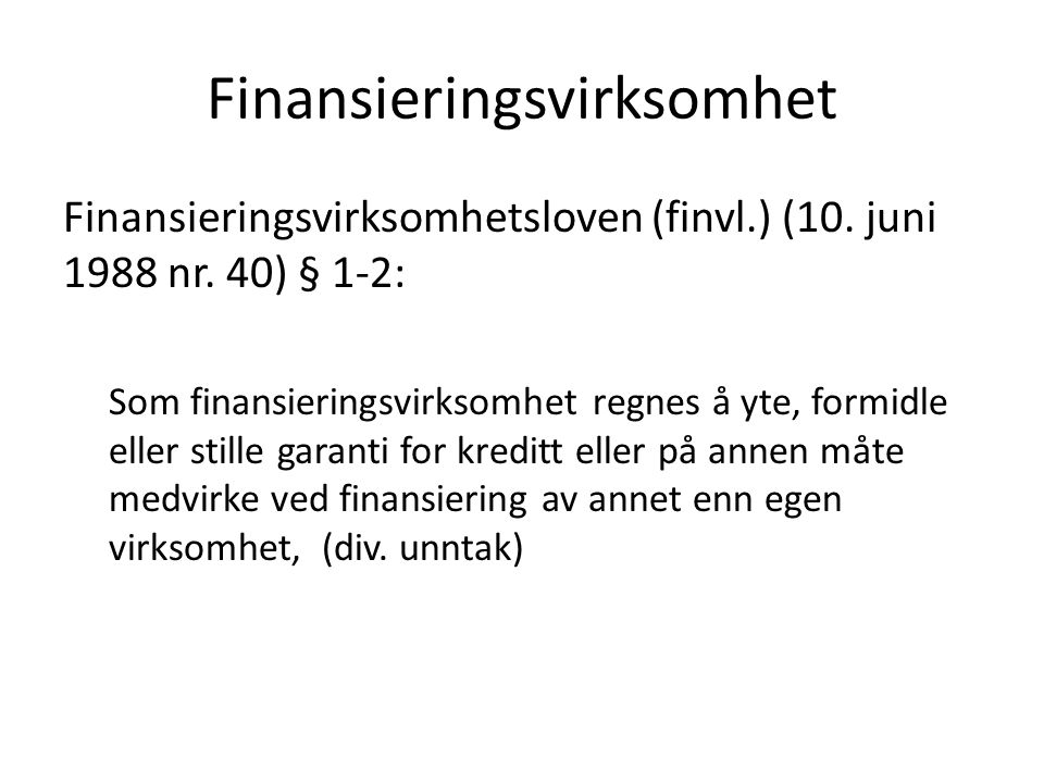 Finansieringsvirksomhet