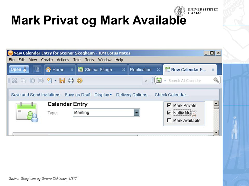 Mark Privat og Mark Available