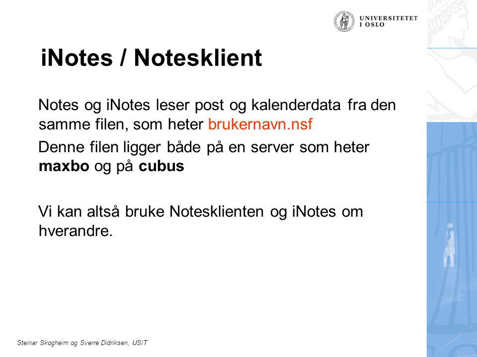 iNotes / Notesklient