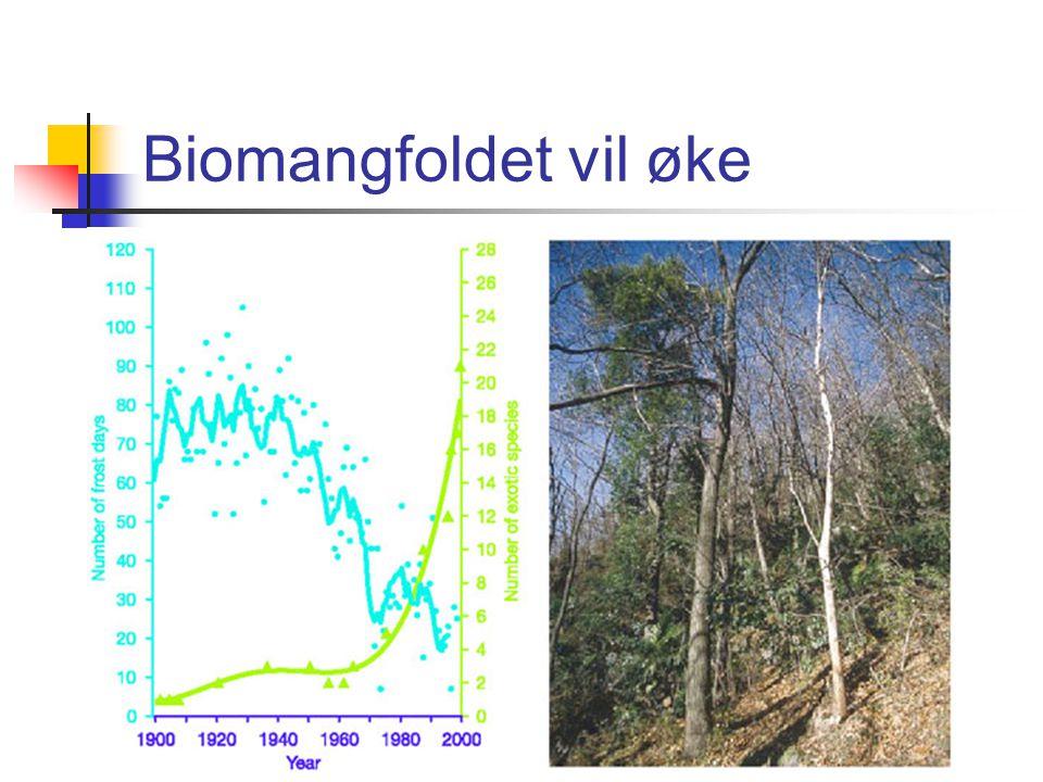 Biomangfoldet vil øke