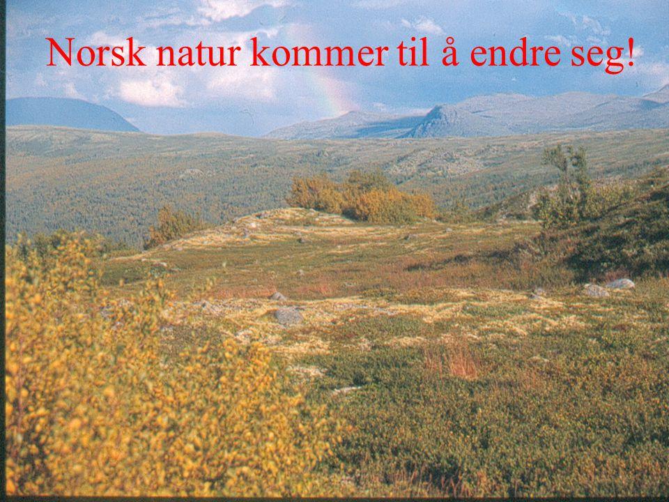 Norsk natur kommer til å endre seg!