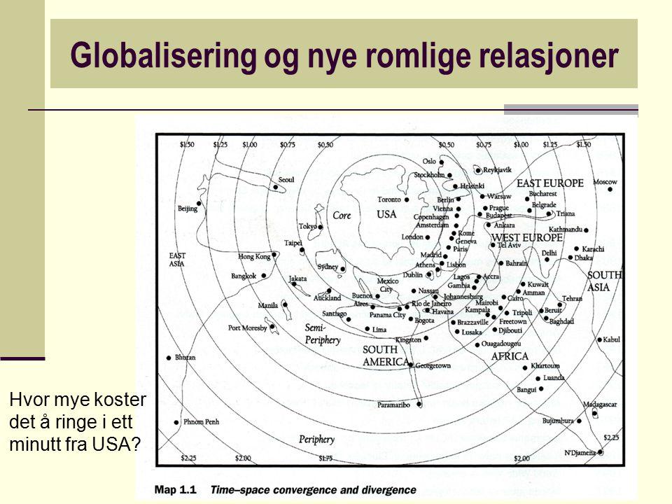 Globalisering og nye romlige relasjoner