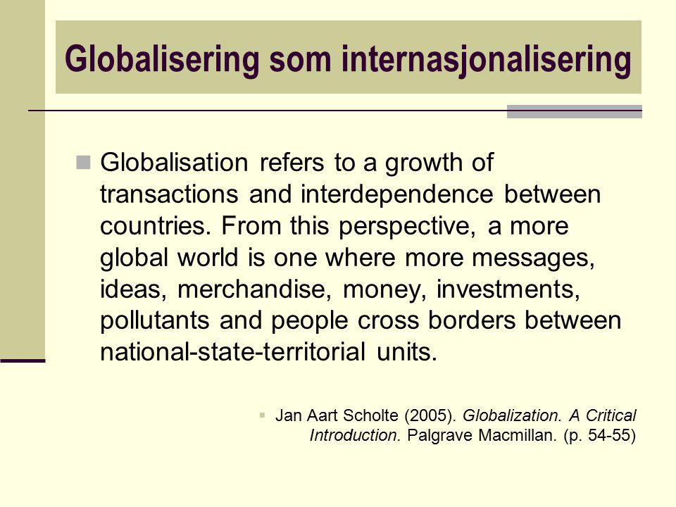 Globalisering som internasjonalisering