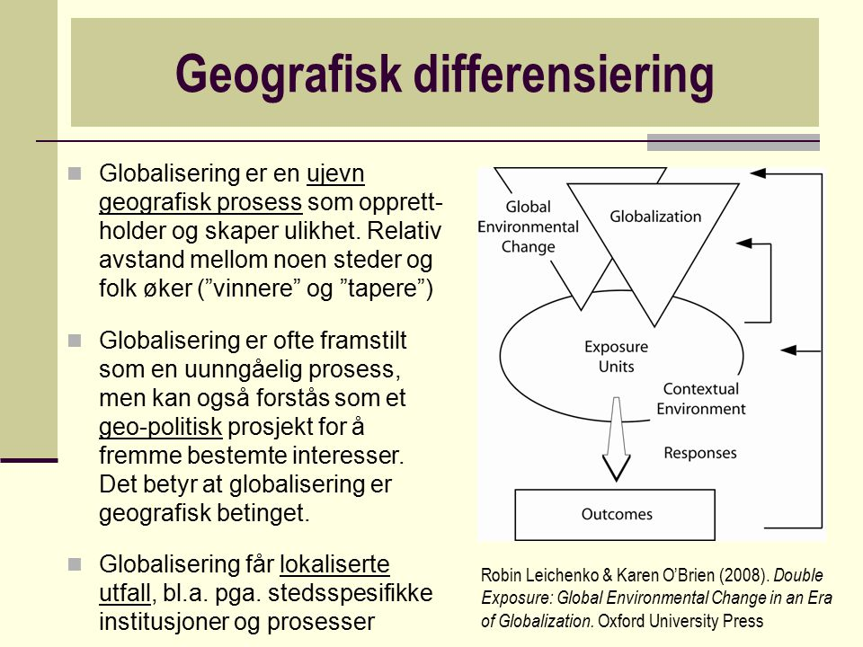 Geografisk differensiering