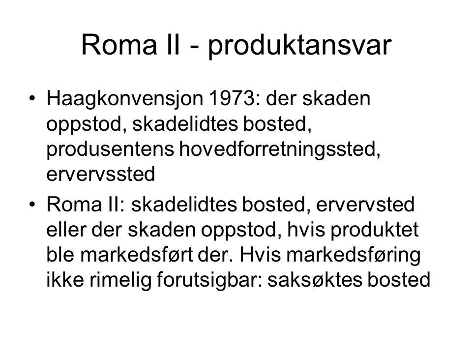 Roma II - produktansvar