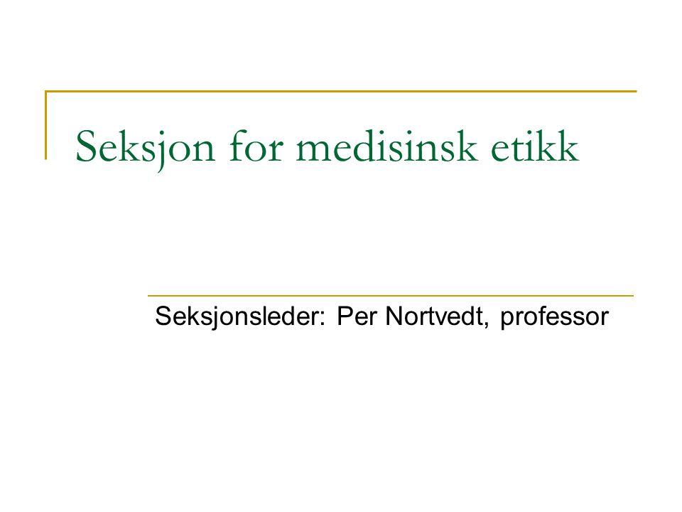 Seksjon for medisinsk etikk