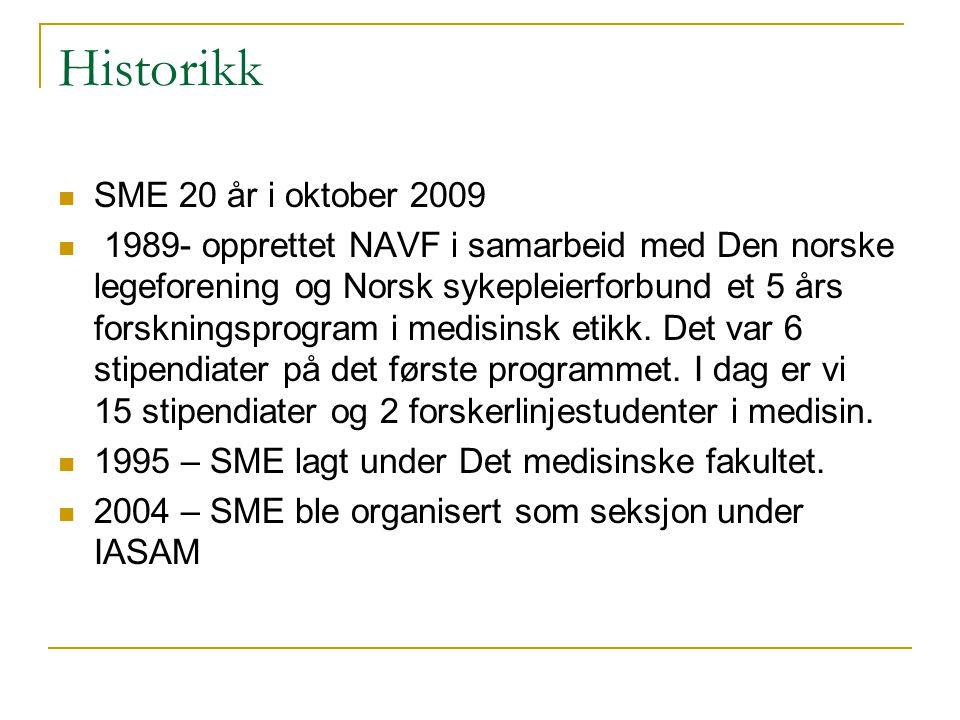 Historikk SME 20 år i oktober 2009