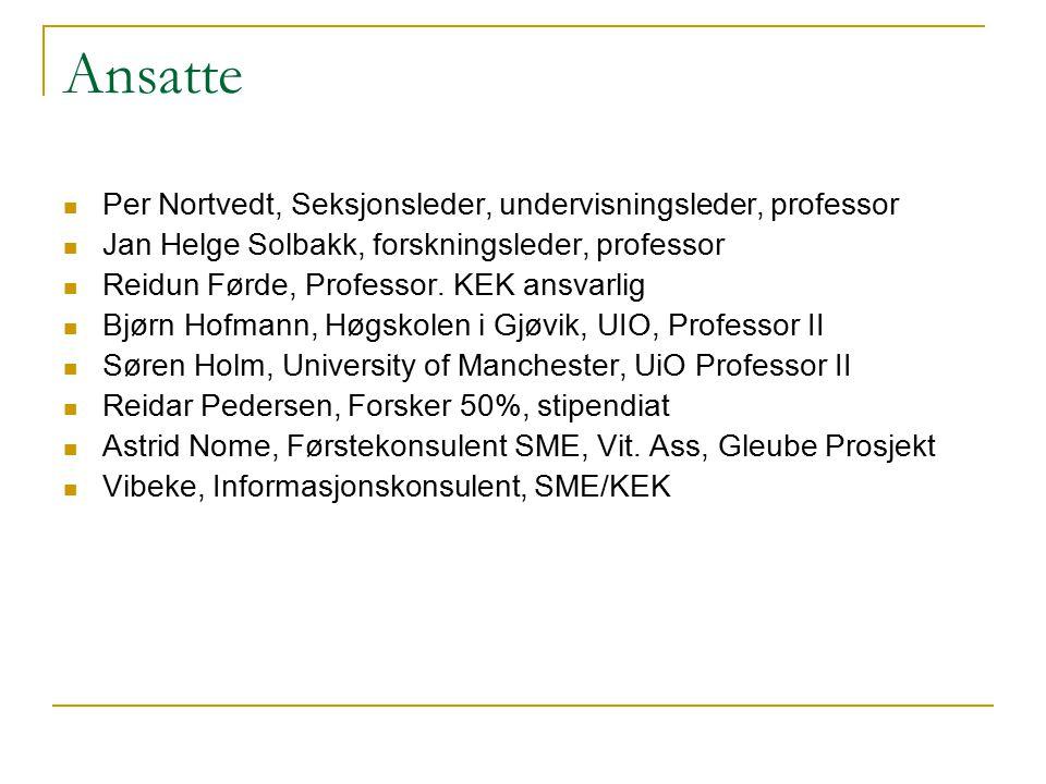 Ansatte Per Nortvedt, Seksjonsleder, undervisningsleder, professor