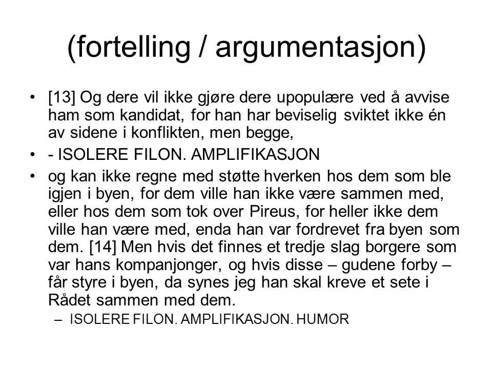 (fortelling / argumentasjon)