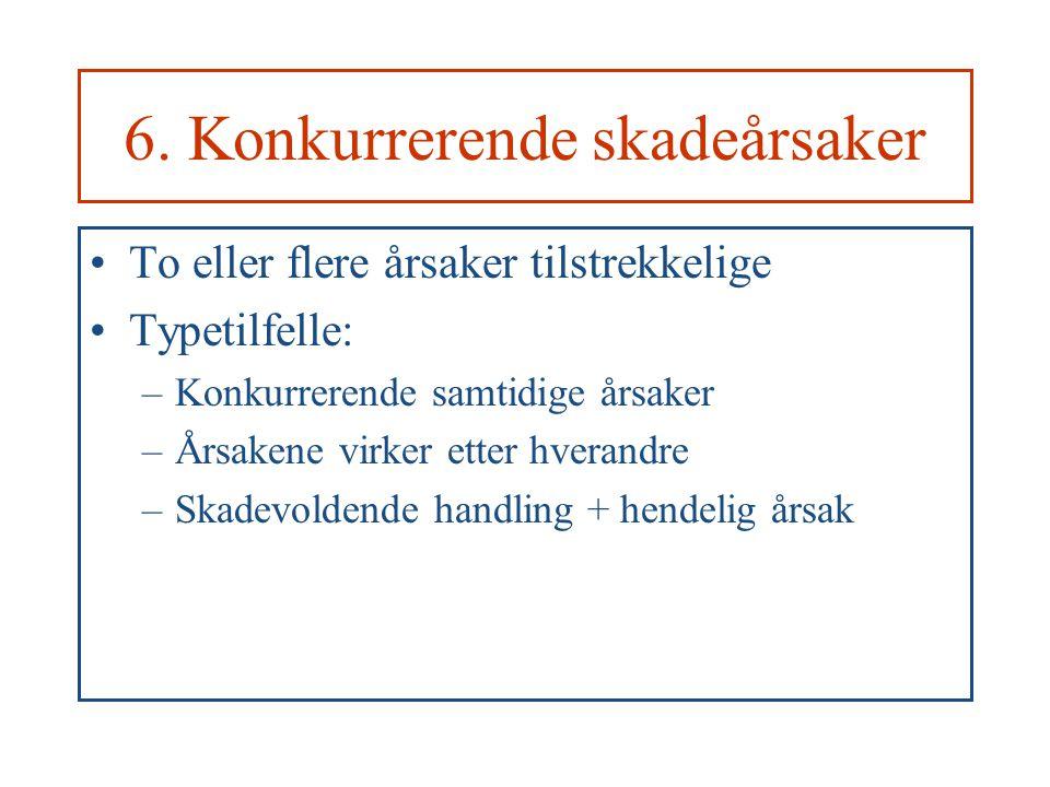 6. Konkurrerende skadeårsaker