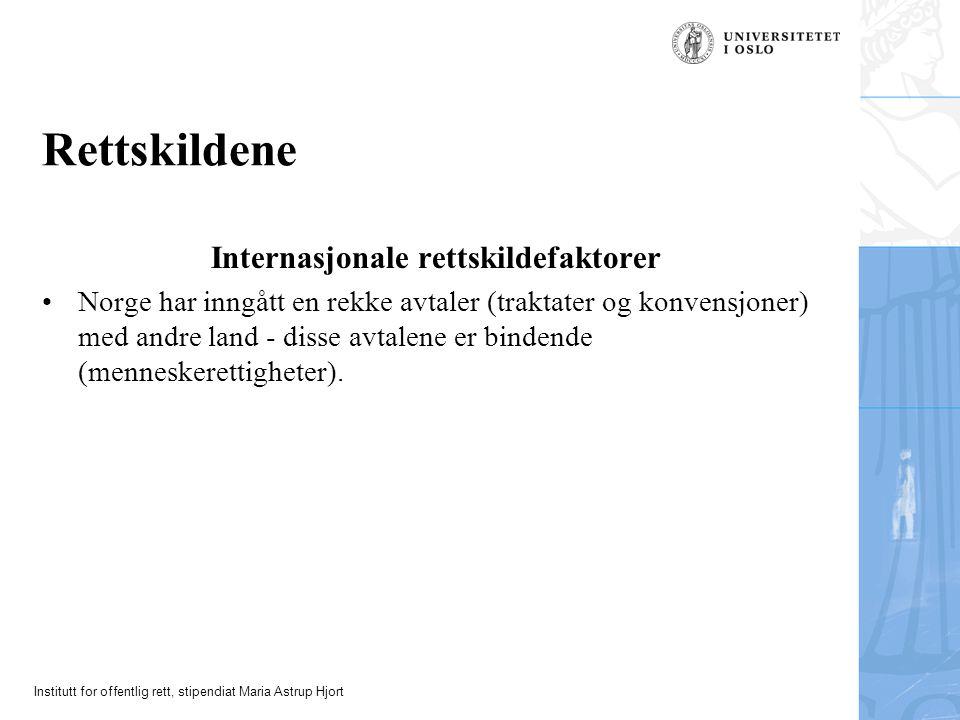 Internasjonale rettskildefaktorer