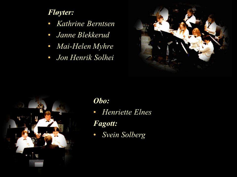 Fløyter: Kathrine Berntsen. Janne Blekkerud. Mai-Helen Myhre. Jon Henrik Solhei. Obo: Henriette Elnes.