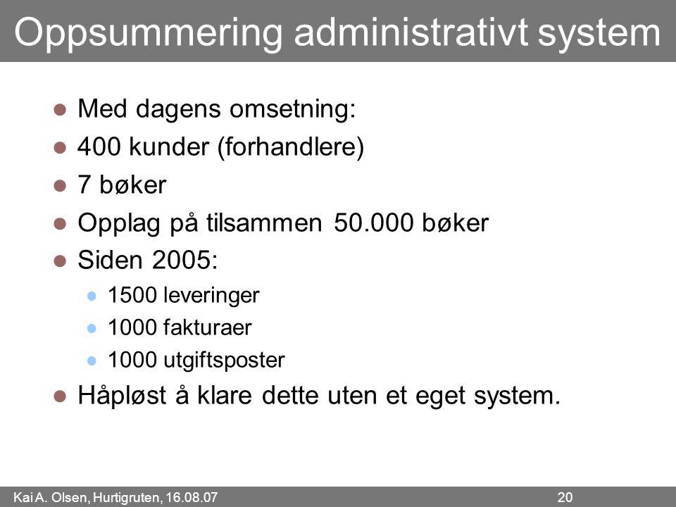 Oppsummering administrativt system