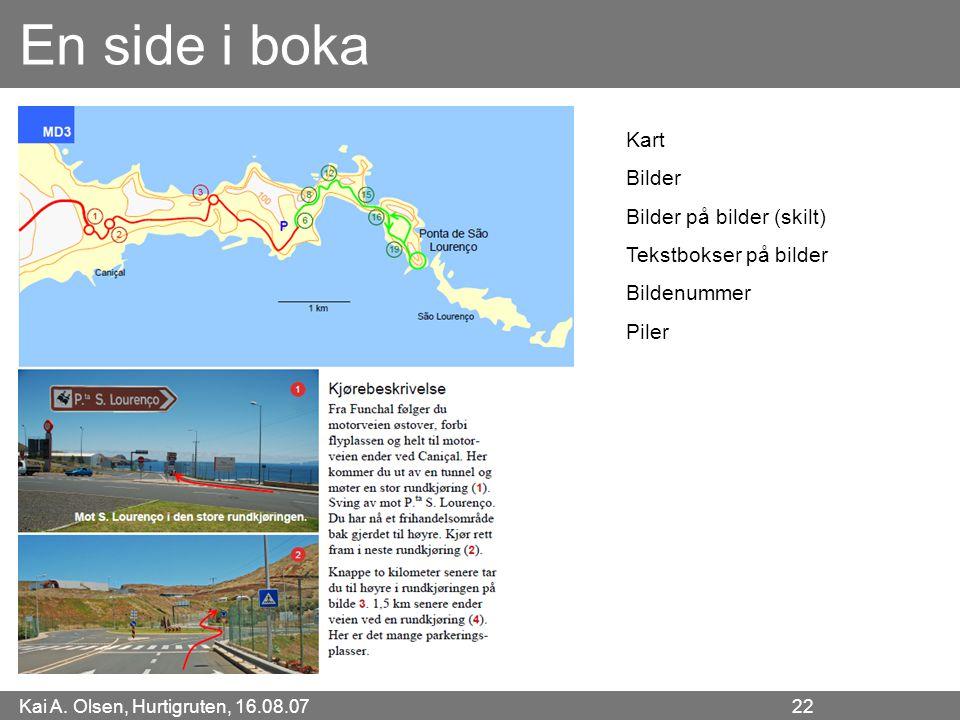 En side i boka Kart Bilder Bilder på bilder (skilt)