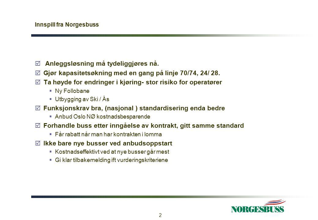 Innspill fra Norgesbuss