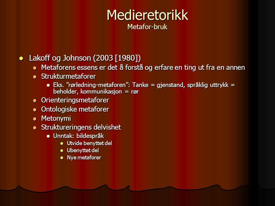 Medieretorikk Metafor-bruk