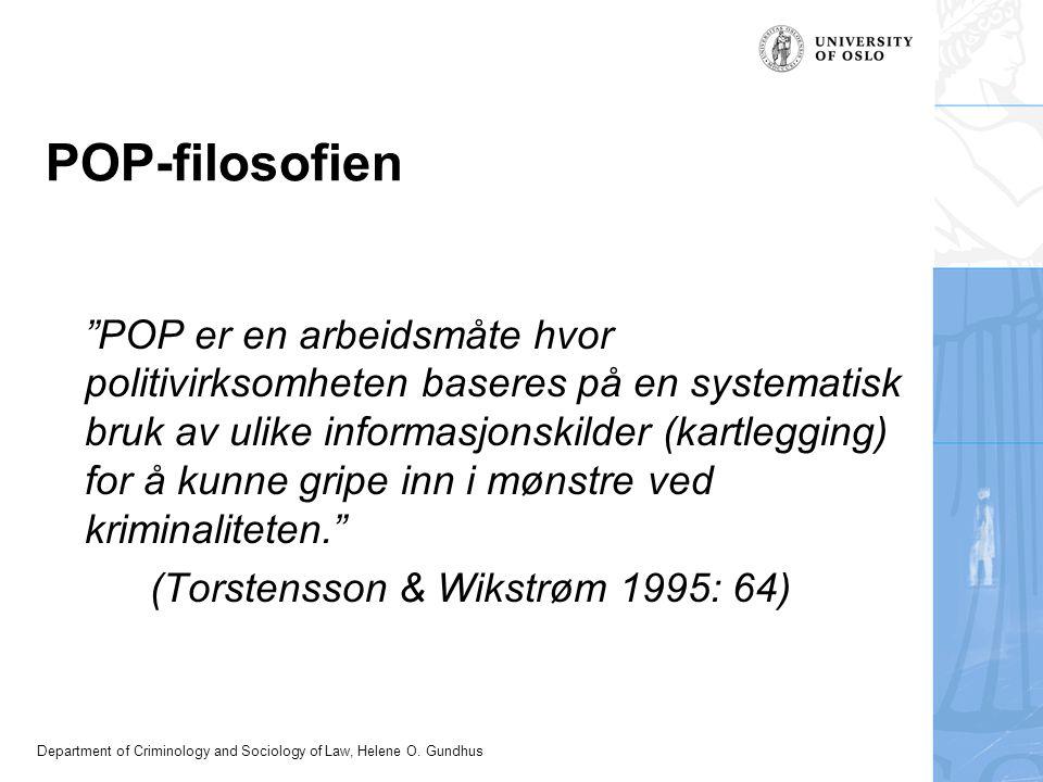 POP-filosofien (Torstensson & Wikstrøm 1995: 64)