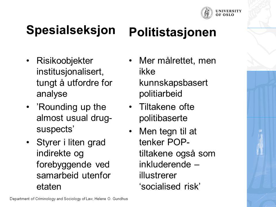 Spesialseksjon Politistasjonen