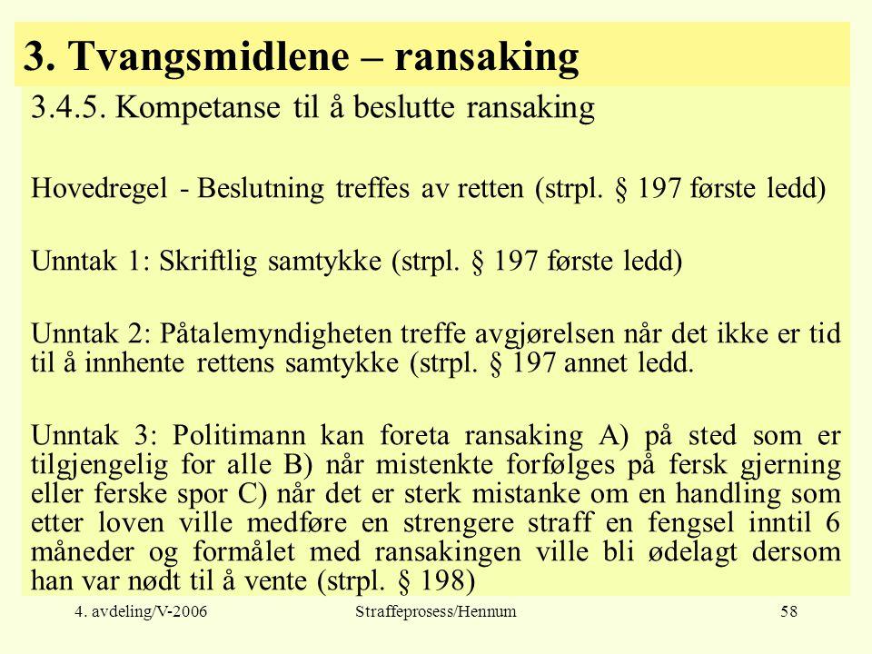 3. Tvangsmidlene – ransaking
