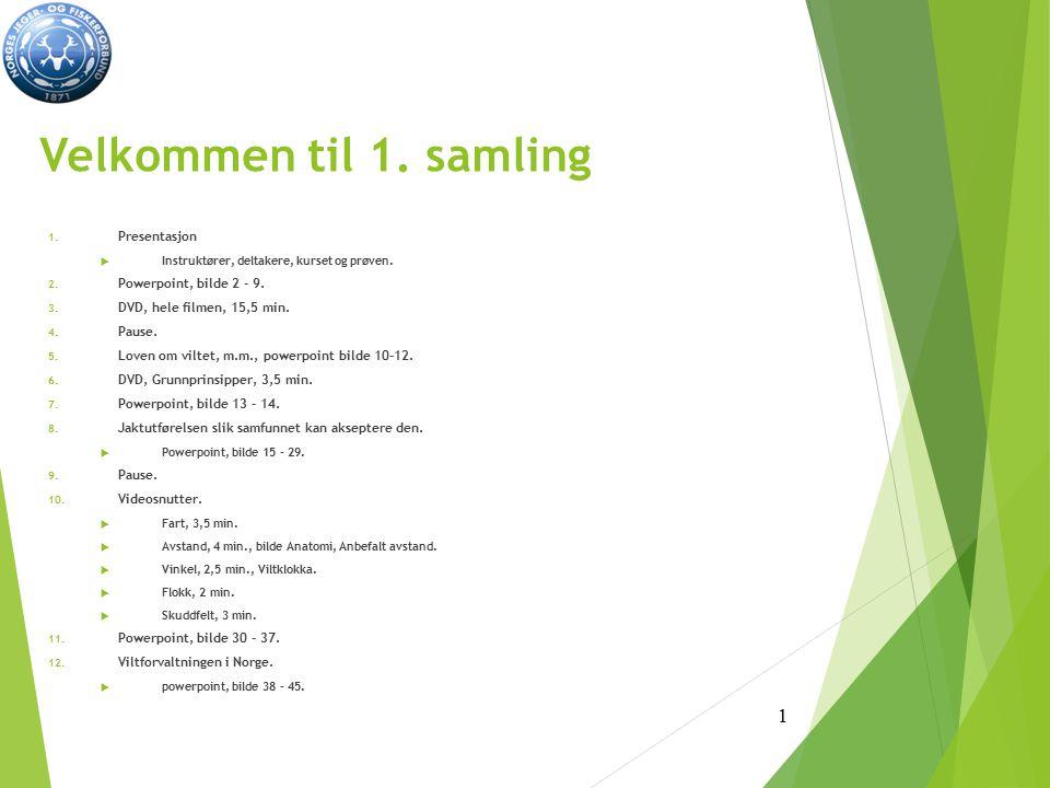 Velkommen til 1. samling Presentasjon Powerpoint, bilde 2 - 9.