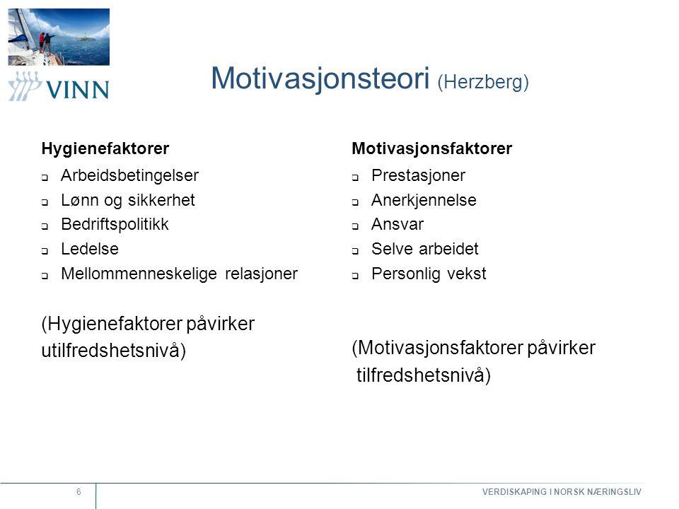 Motivasjonsteori (Herzberg)