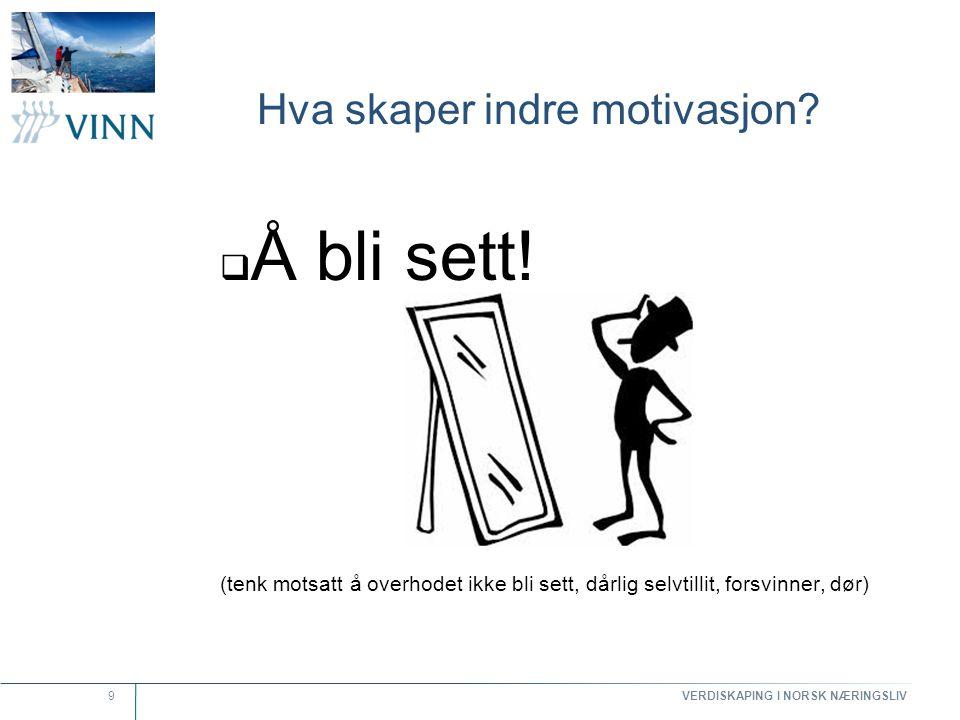 Hva skaper indre motivasjon