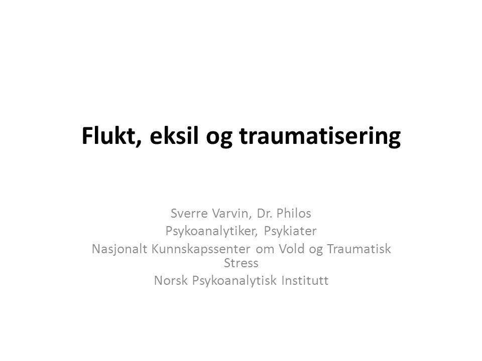 Flukt, eksil og traumatisering