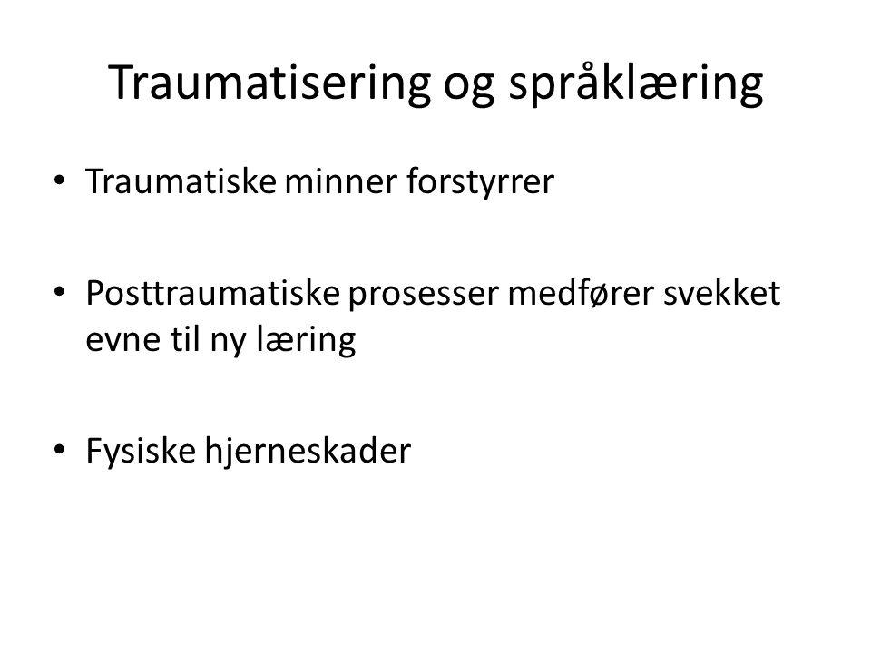 Traumatisering og språklæring