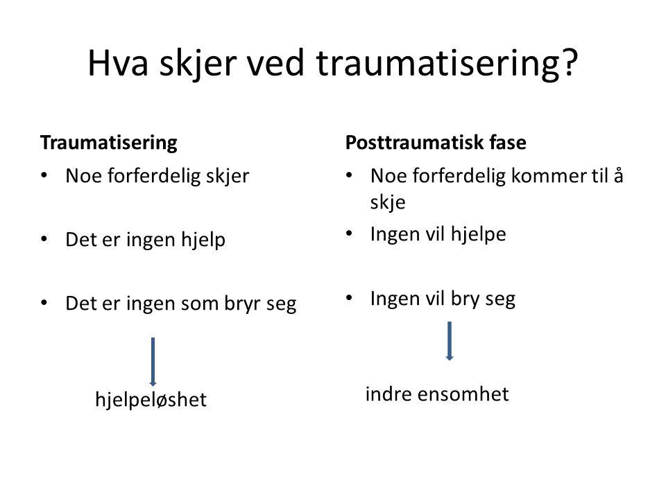Hva skjer ved traumatisering