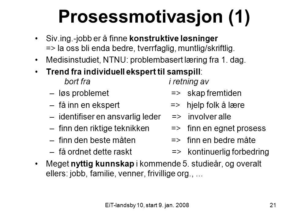 Prosessmotivasjon (1)