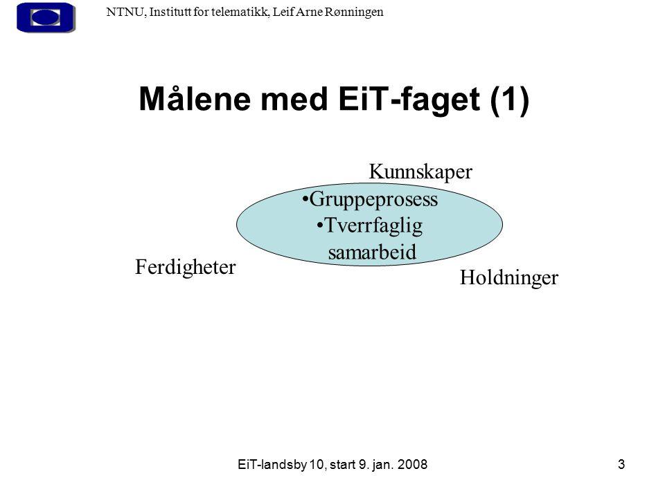Målene med EiT-faget (1)