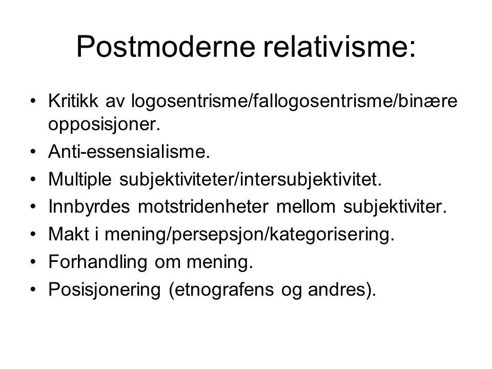 Postmoderne relativisme:
