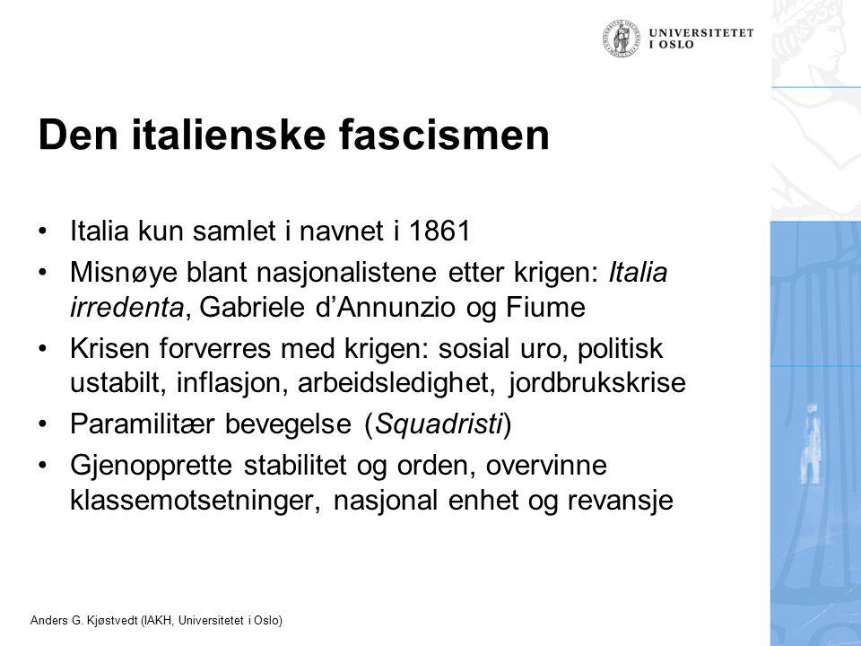 Den italienske fascismen