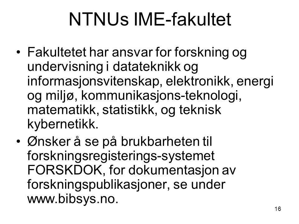NTNUs IME-fakultet